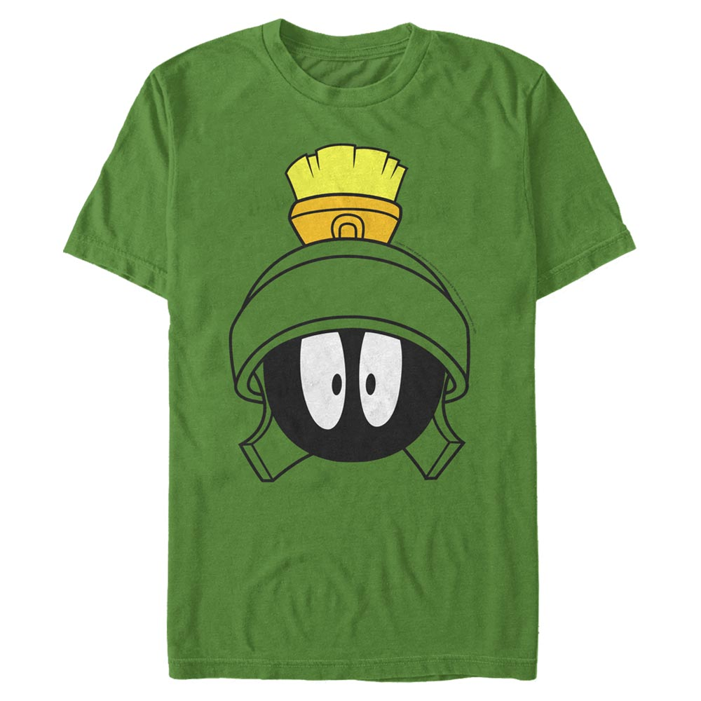 Kelly Green Marvin the Martian Surprised Face T-Shirt from Looney Tunes Image