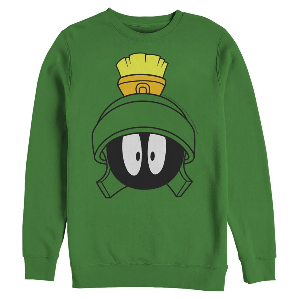 Marvin the Martian Surprised Face Crew Sweatshirt from Looney Tunes