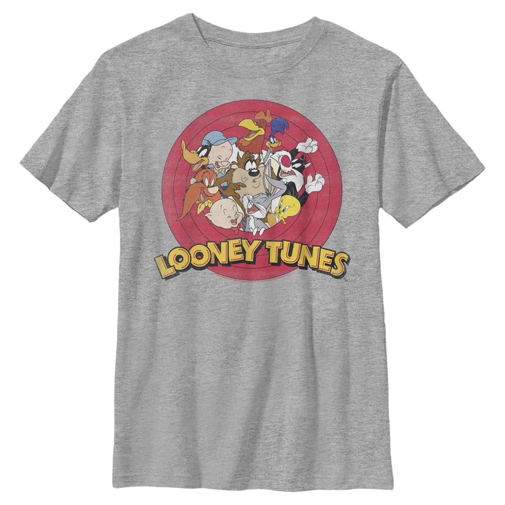 Grey Heather Looney Tunes Tune Squad Characters Kids' T-Shirt Image