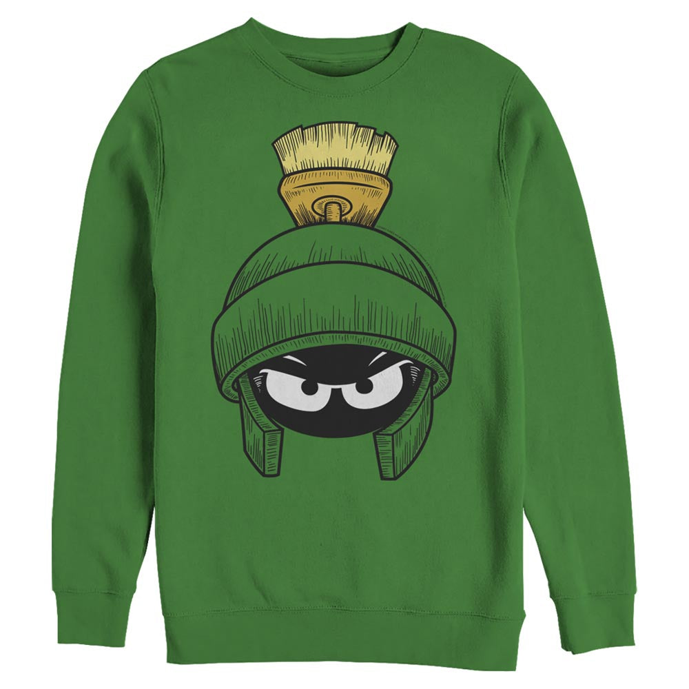 Kelly Green Marvin the Martian Crew Sweatshirt from Looney Tunes Image