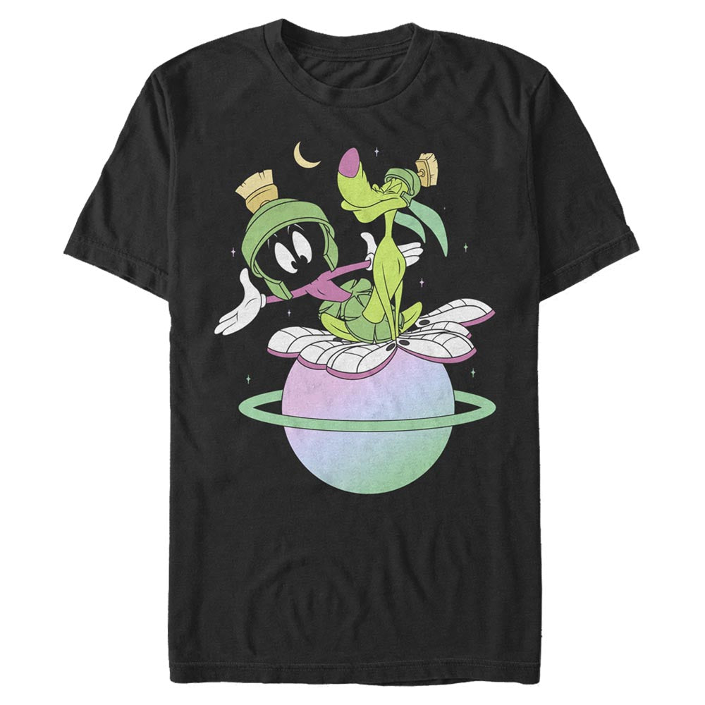 Black Marvin the Martian and K-9 Planet T-Shirt from Looney Tunes Image