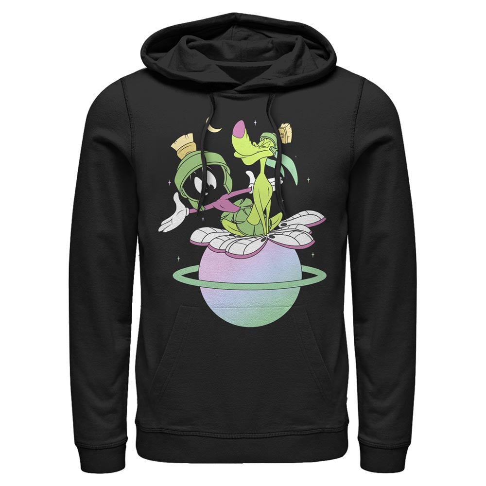 Black Marvin the Martian and K-9 Planet Hoodie from Looney Tunes Image