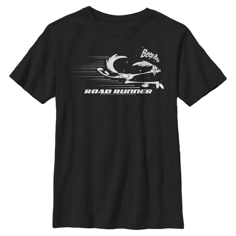 Black Road Runner in Motion Kids' T-Shirt from Looney Tunes Image