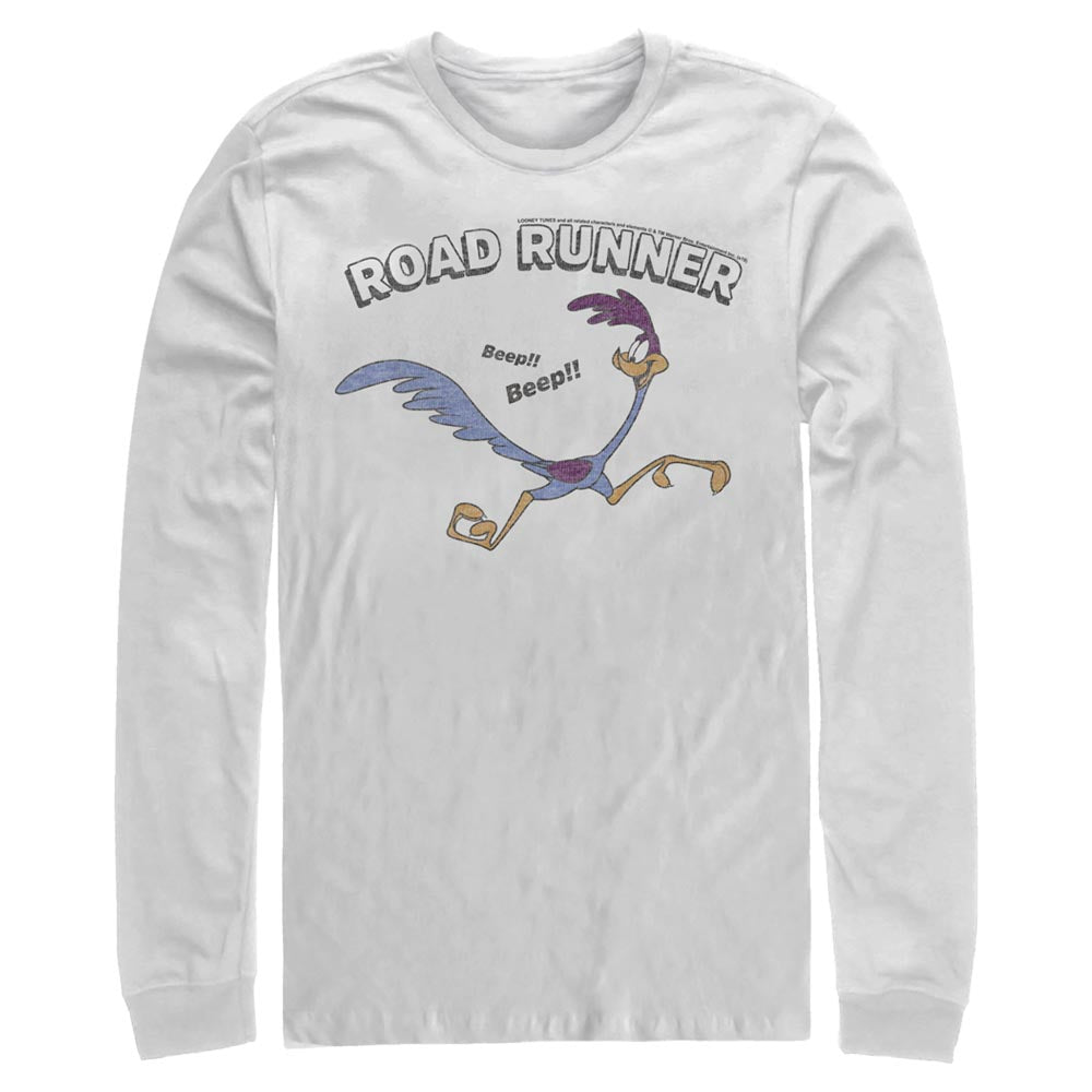 White Road Runner Long Sleeve Tee from Looney Tunes Image