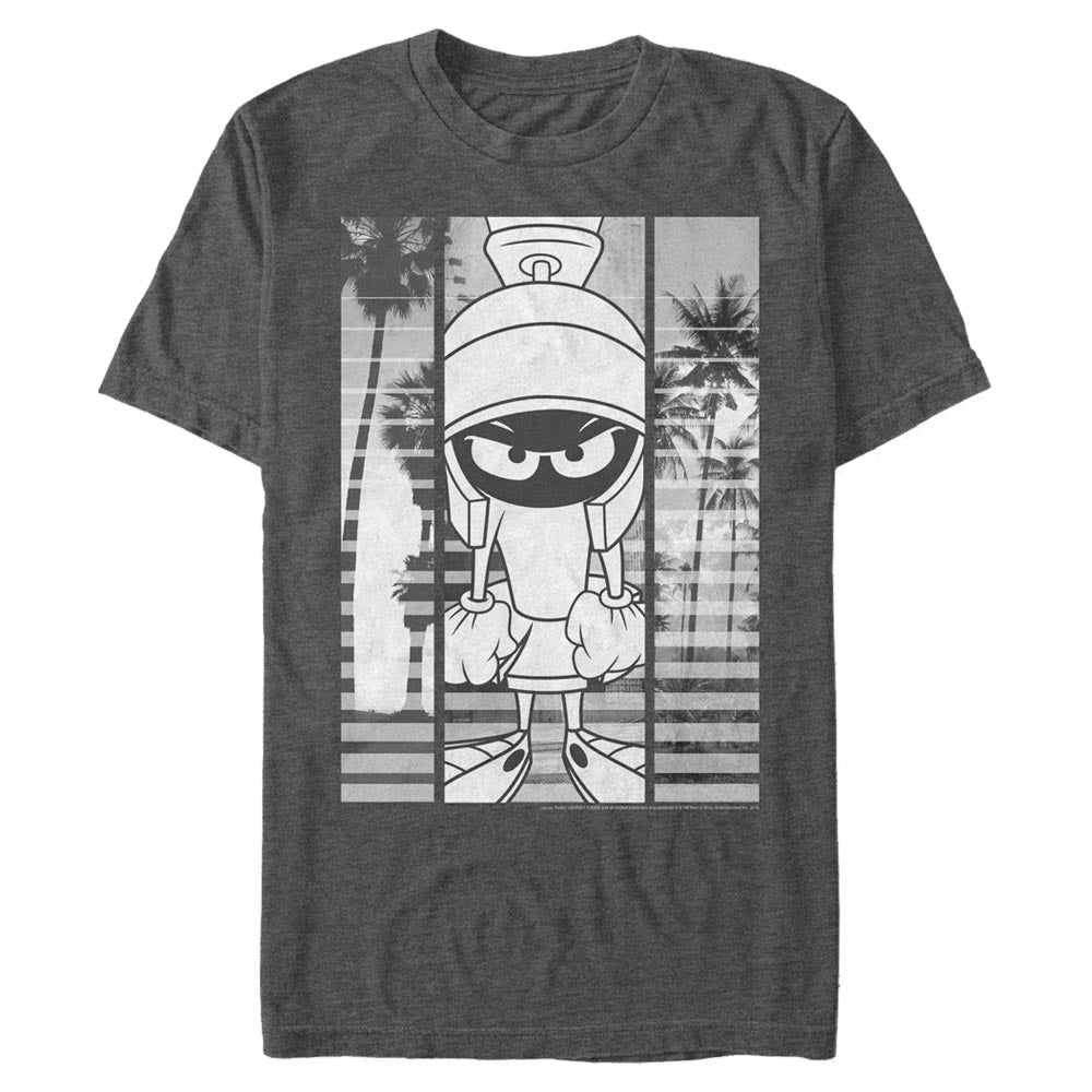 Charcoal Heather Marvin the Martian Black-and-White Block T-Shirt from Looney Tunes Image