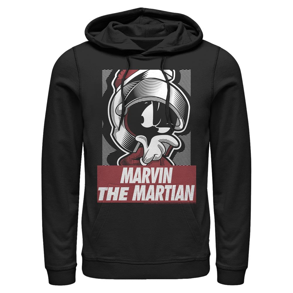 Black Marvin the Martian Shining Armor Hoodie from Looney Tunes Image