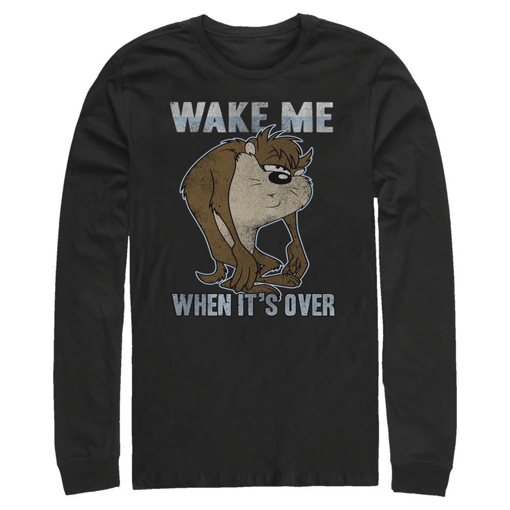 Taz Wake Me When it's Over Long Sleeve Tee from Looney Tunes