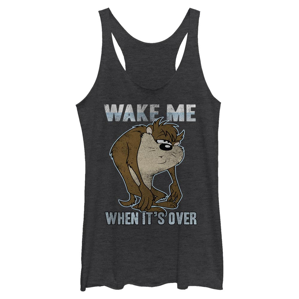 Taz Wake Me When it's Over Women's Racerback Tank from Looney Tunes