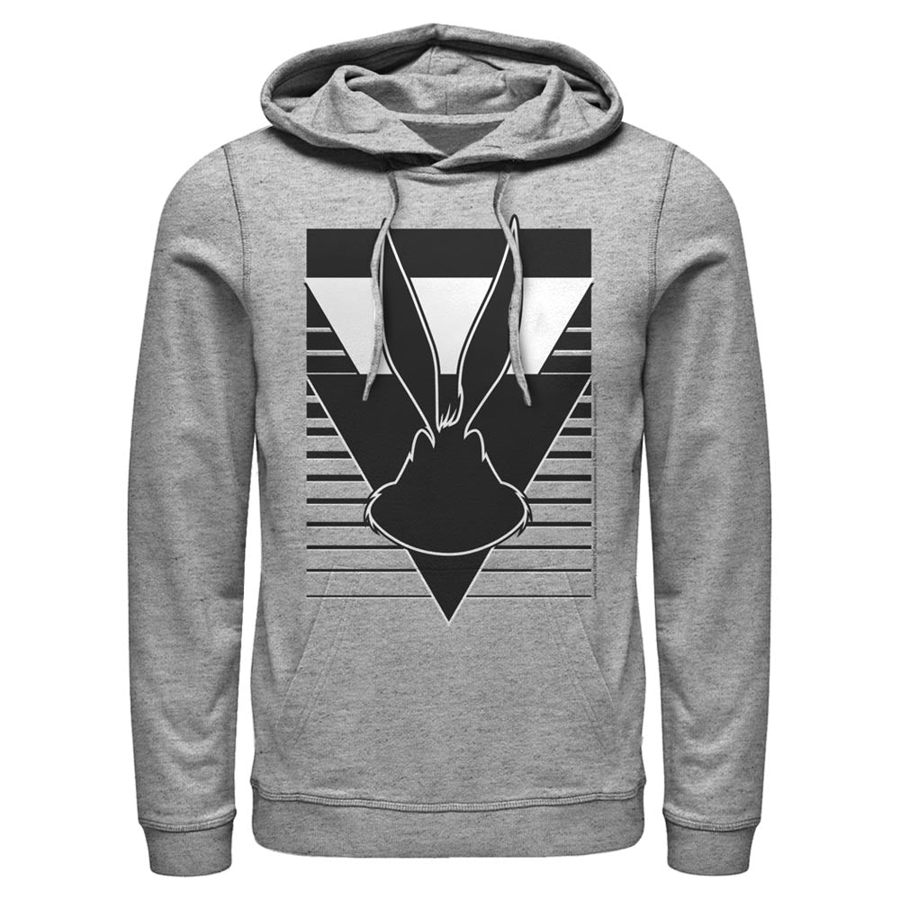 Grey Heather Bugs Bunny Silhouette Hoodie from Looney Tunes Image