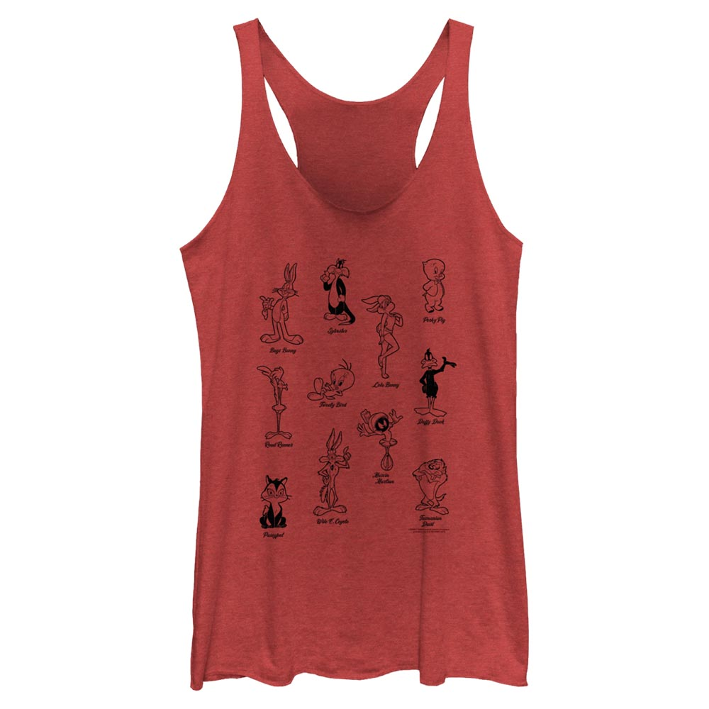 Tune Crew Character Poses Women's Racerback Tank from Looney Tunes