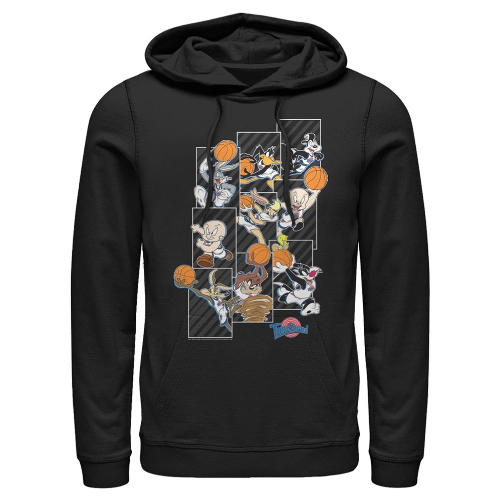 Black Tune Squad Character Collage Hoodie from Space Jam Image