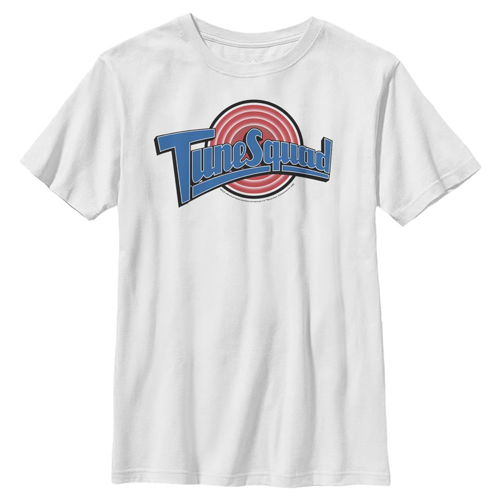 White Tune Squad Logo Kids' T-Shirt from Space Jam Image