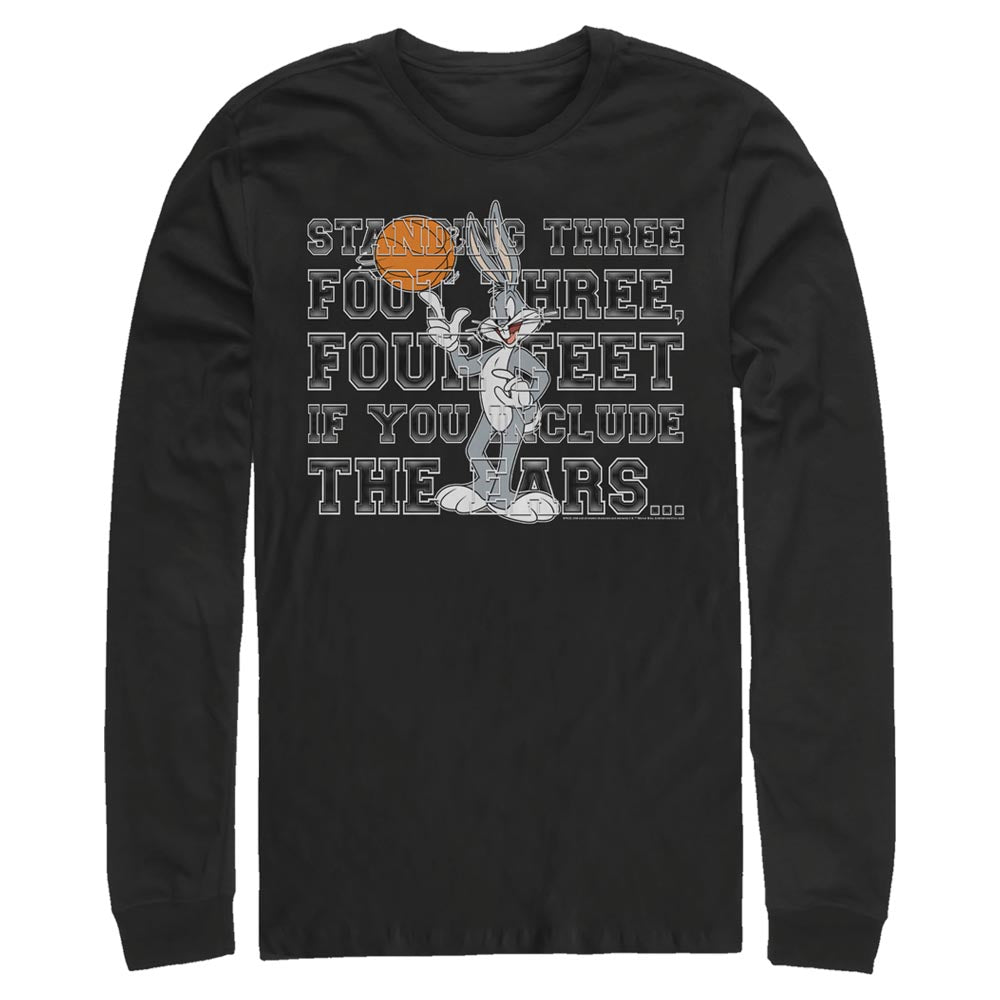 Black Bugs Bunny Ears Quote Long Sleeve Tee from Space Jam Image