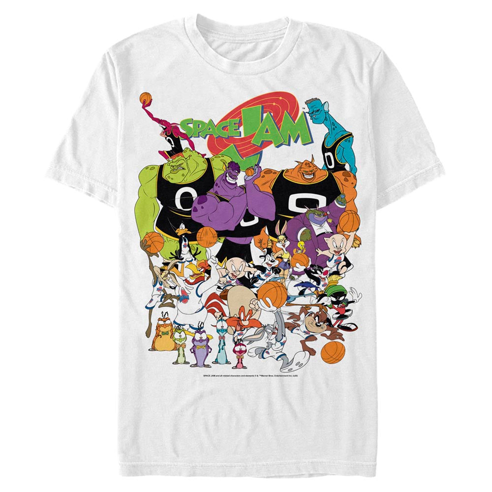 White Space Jam Cast Members T-Shirt from Space Jam Image