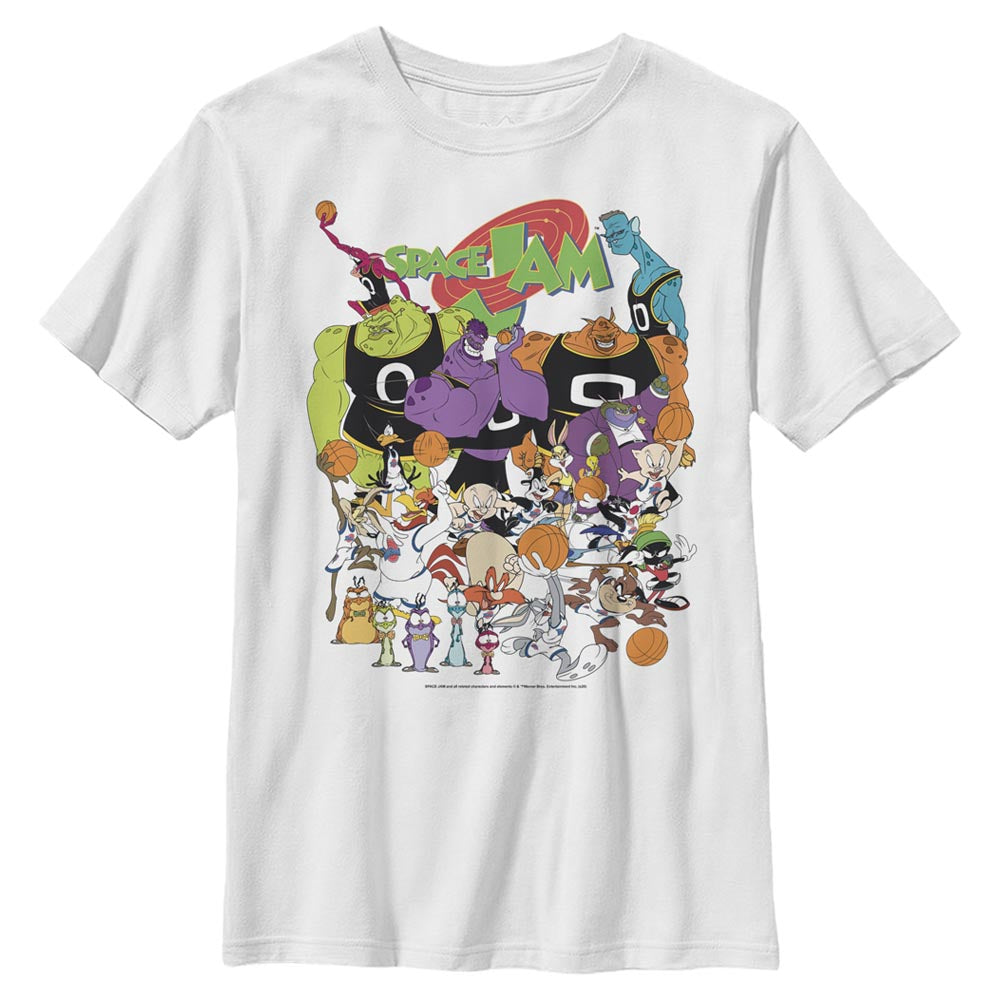 White Space Jam Cast Members Kids' T-Shirt from Space Jam Image