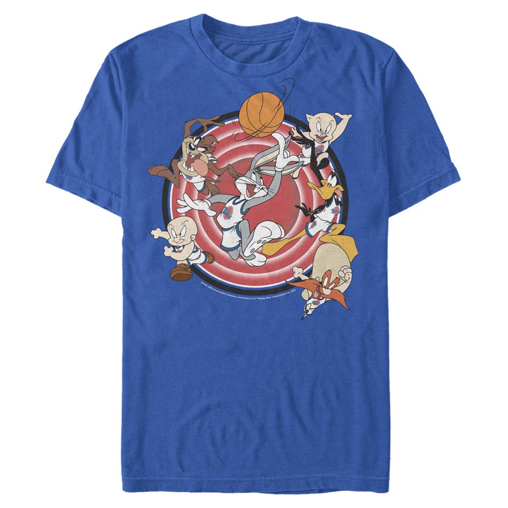 Royal Blue Tune Squad Leaping T-Shirt from Space Jam Image