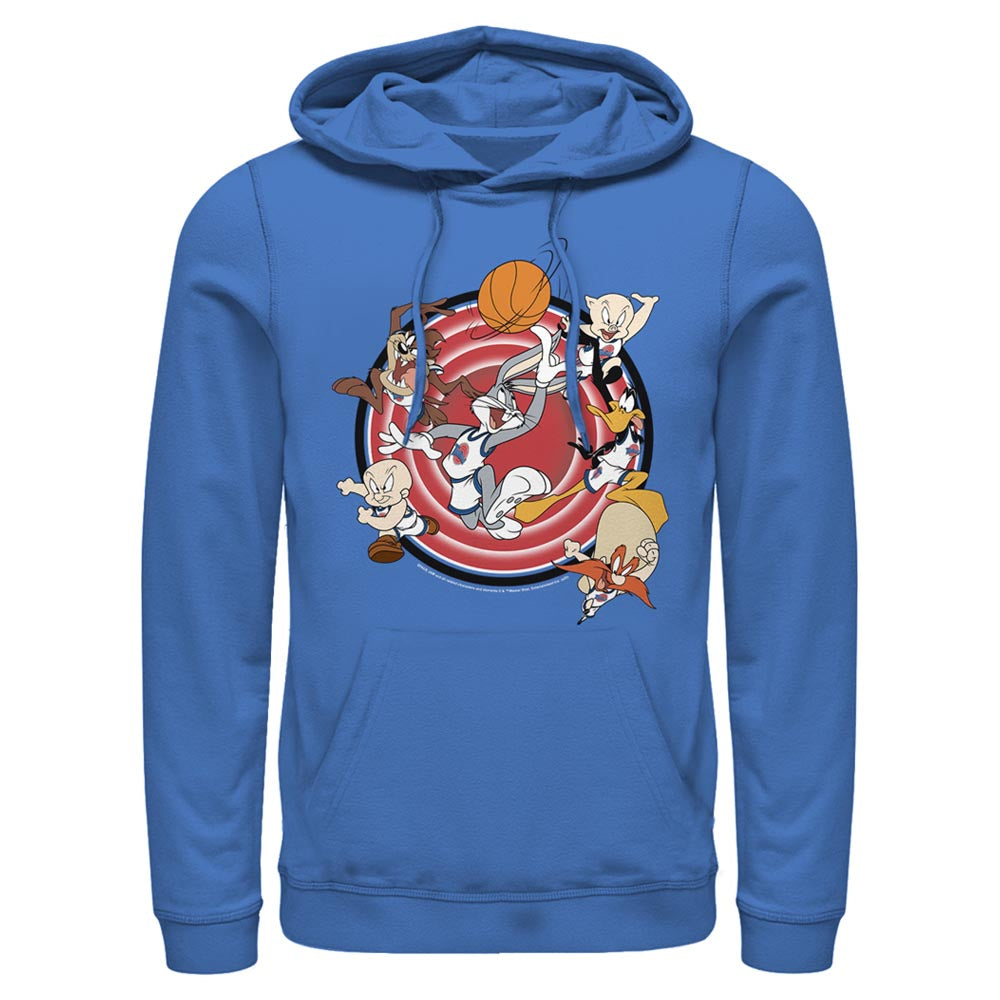 Royal Blue Tune Squad Leaping Hoodie from Space Jam Image