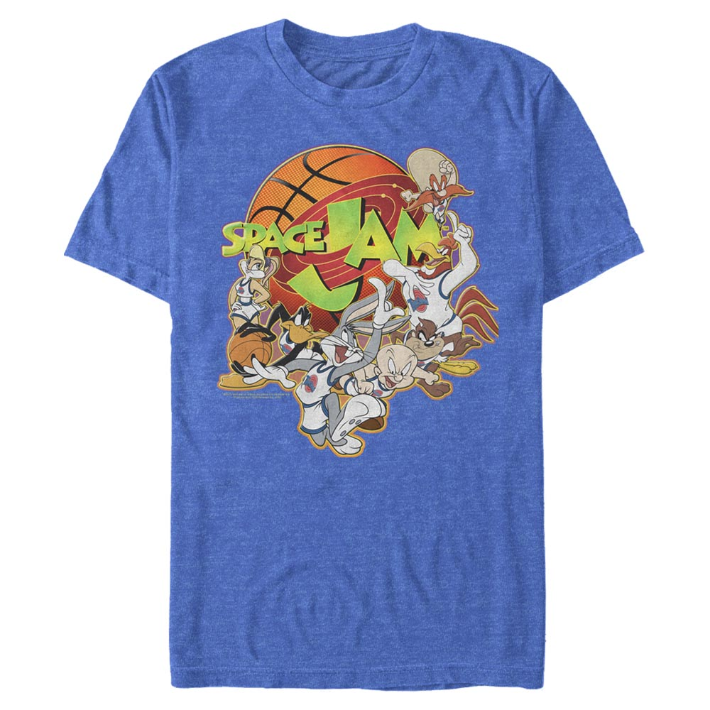 Royal Blue Heather Looney Crew T-Shirt from Space Jam Image