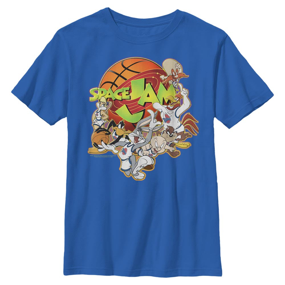 Royal Blue Looney Crew Kids' T-Shirt from Space Jam Image