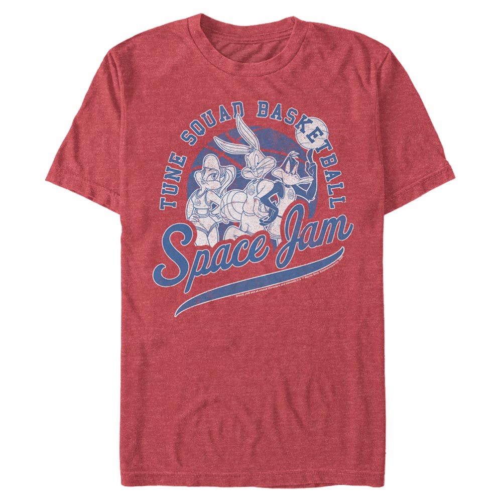 Red Heather Tune Squad Basketball T-Shirt from Space Jam Image