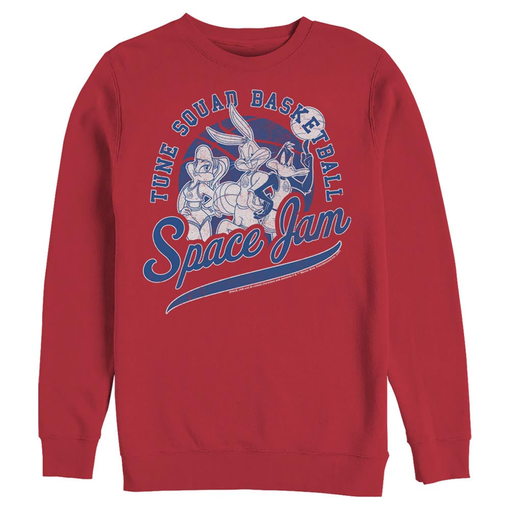 Red Tune Squad Basketball Crew Sweatshirt from Space Jam Image