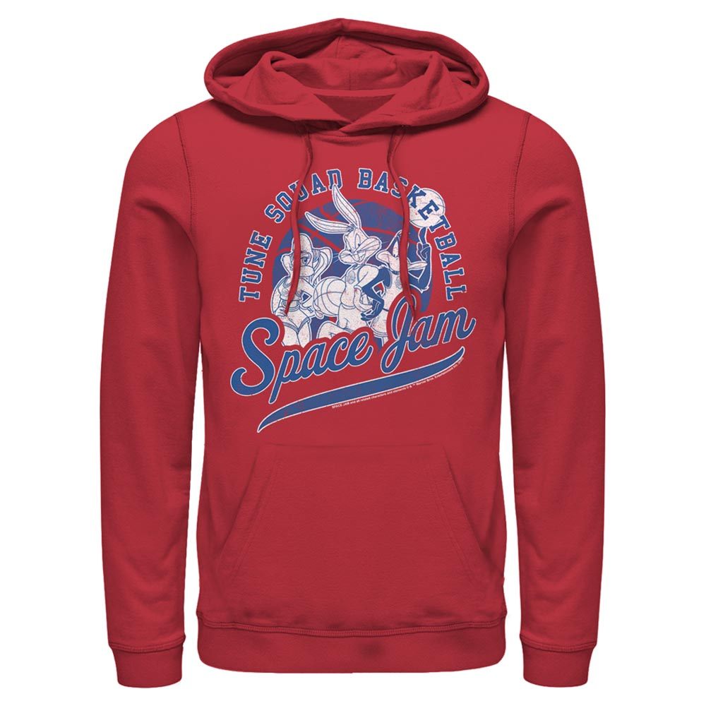 Red Tune Squad Basketball Hoodie from Space Jam Image