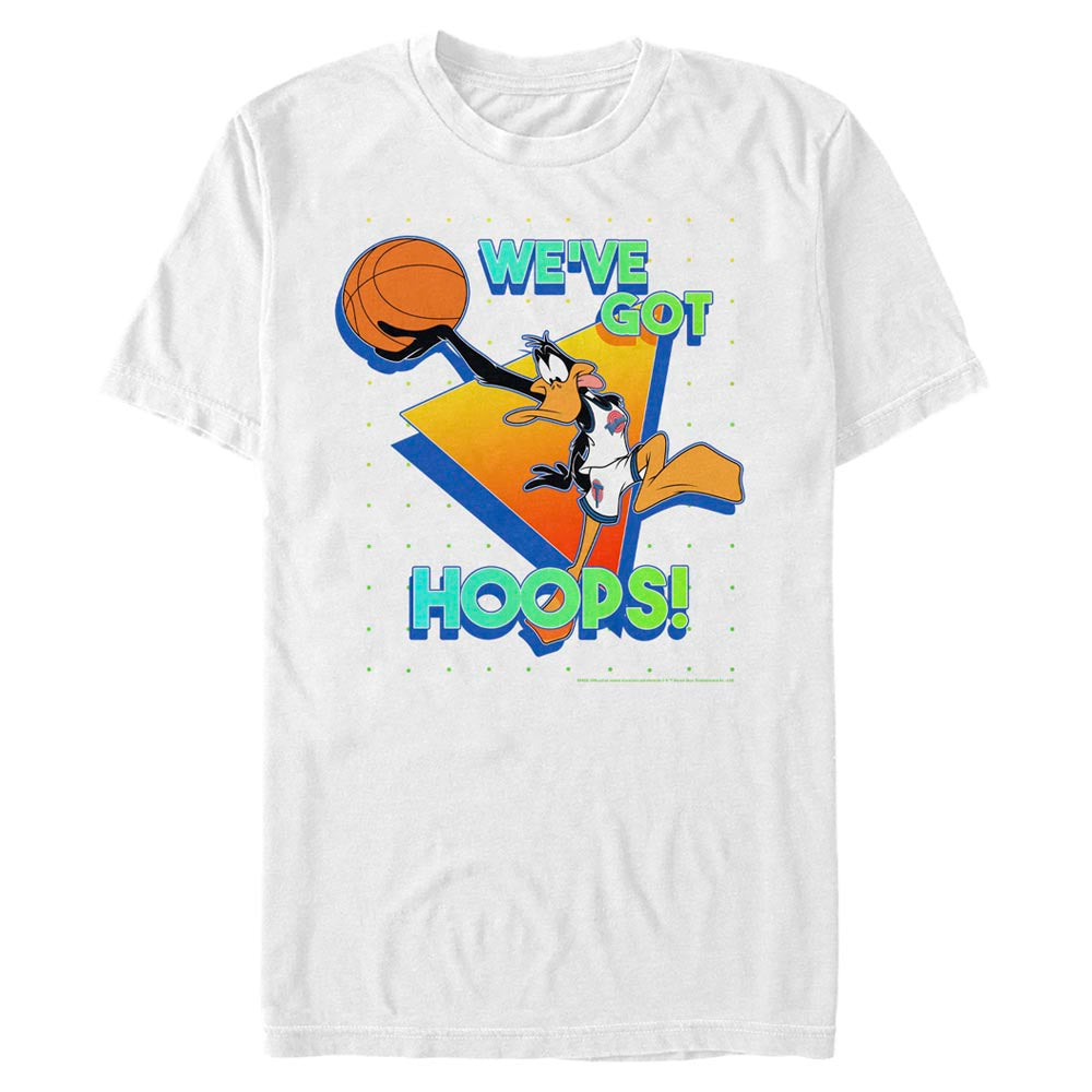 White Daffy Duck We've Got Hoops T-Shirt from Space Jam Image