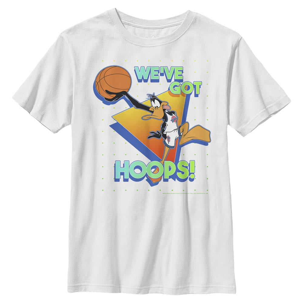 White Daffy Duck We've Got Hoops Kids' T-Shirt from Space Jam Image