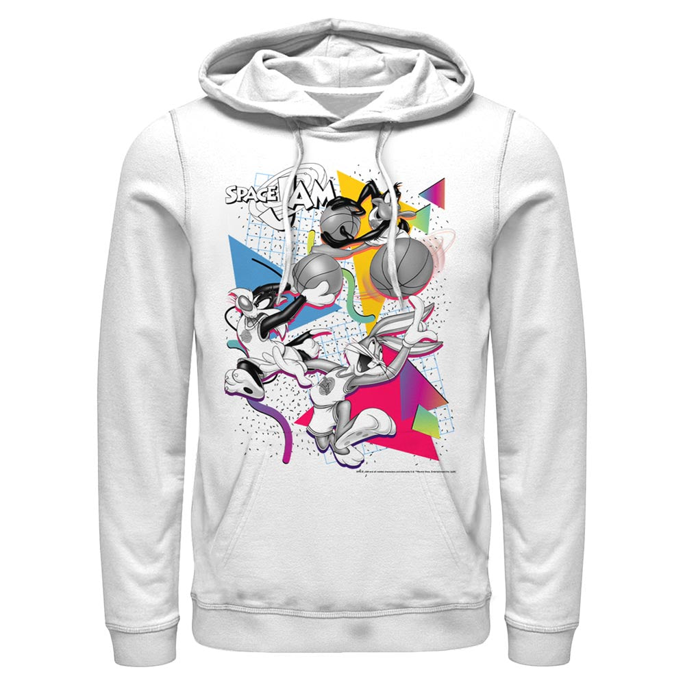 White Party Bugs Bunny, Daffy Duck, & Sylvester James Pussycat Hoodie From Space Jam Image