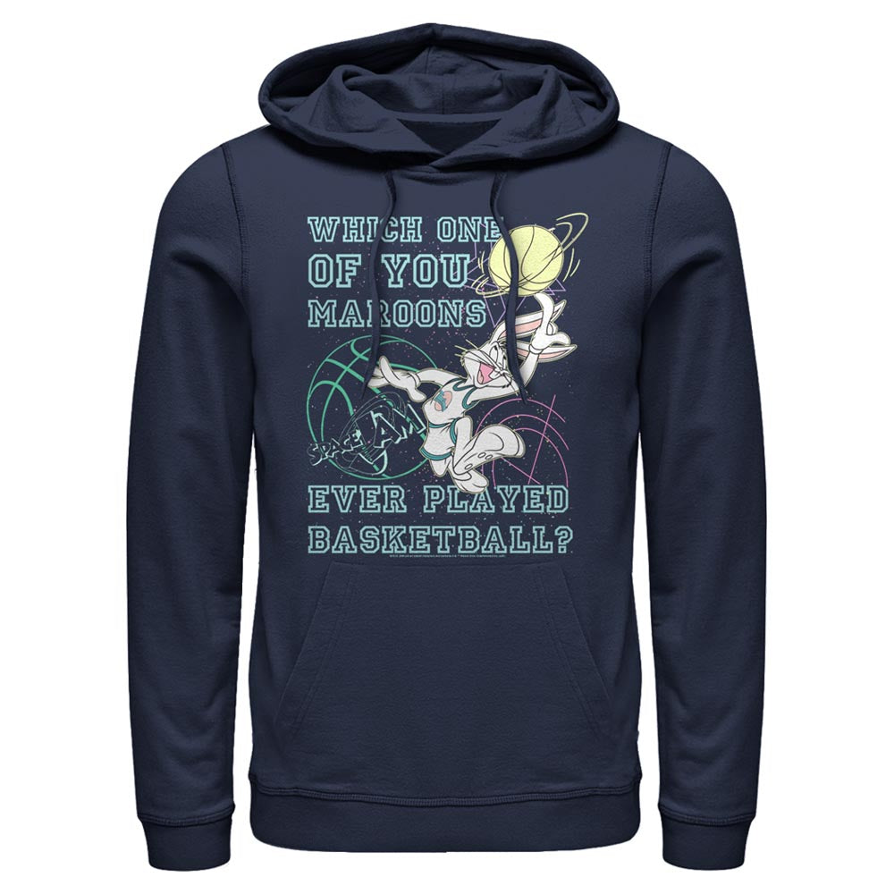 Navy Bugs Bunny Maroons Quote Hoodie from Space Jam Image