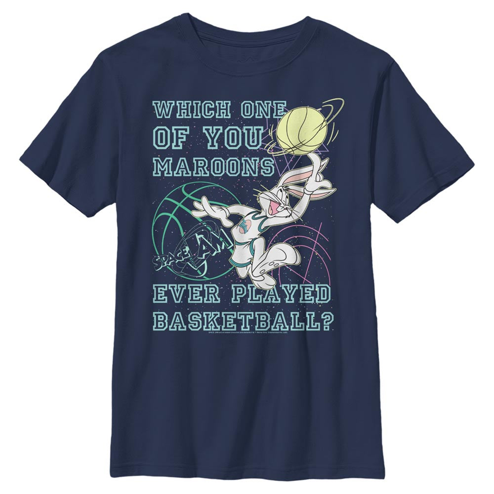 Navy Bugs Bunny Maroons Quote Kids' T-Shirt from Space Jam Image