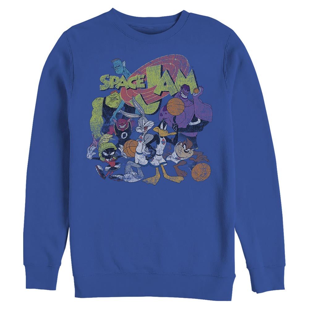 Royal Blue Space Group Squad Crew Sweatshirt from Space Jam Image