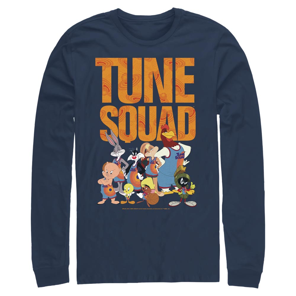 Navy Tune Squad Team Collage Long Sleeve Tee from Space Jam: A New Legacy Image