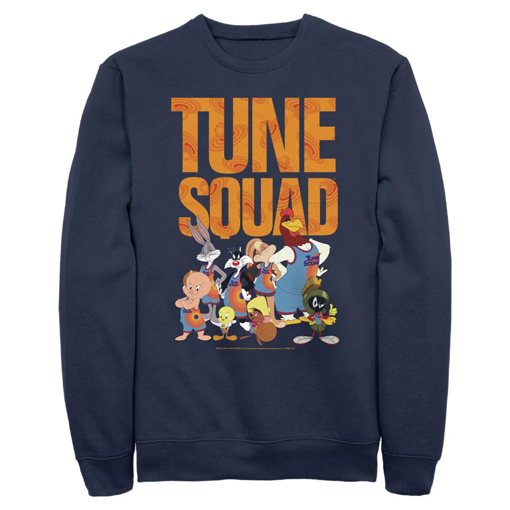 Navy Tune Squad Team Collage Crew Sweatshirt from Space Jam: A New Legacy Image