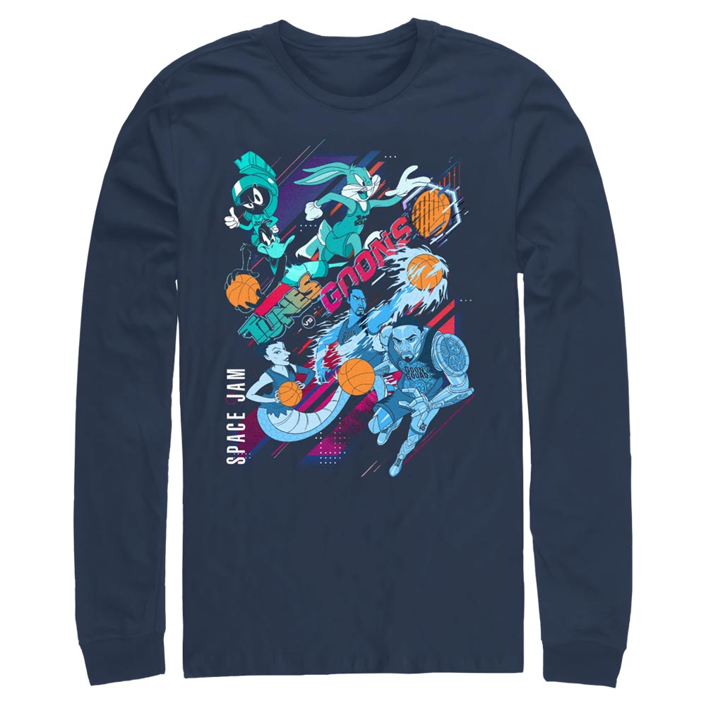 Navy Tunes and Goons Long Sleeve Tee from Space Jam: A New Legacy Image