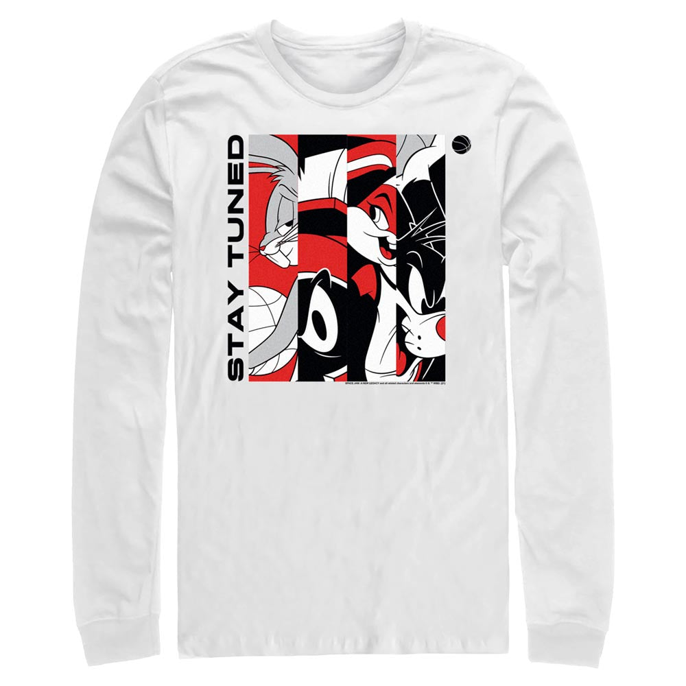 White Tune Squad Stay Tuned Red & White Long Sleeve Tee from Space Jam: A New Legacy Image