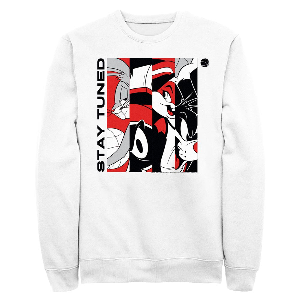 White Tune Squad Stay Tuned Red & White Crew Sweatshirt from Space Jam: A New Legacy Image