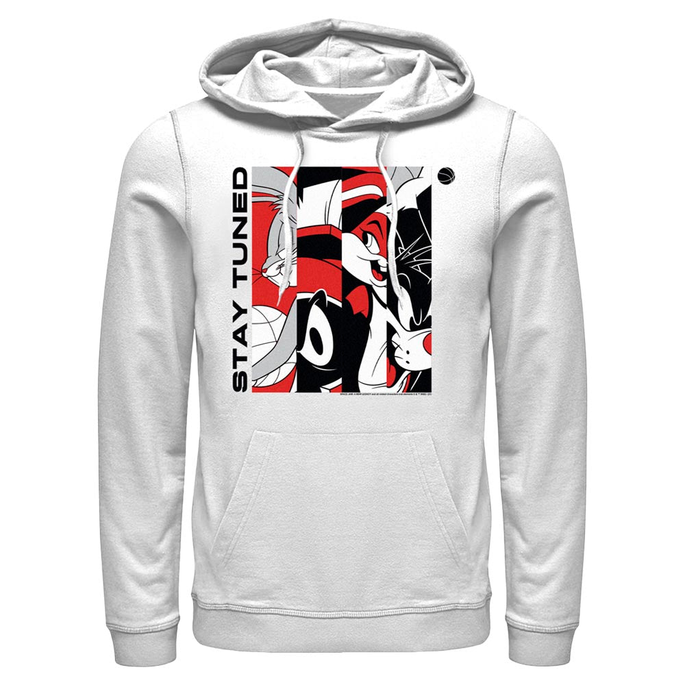 White Tune Squad Stay Tuned Red & White Hoodie from Space Jam: A New Legacy Image