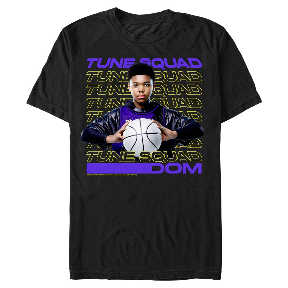 Black Dom Tune Squad T-Shirt from Space Jam: A New Legacy Image