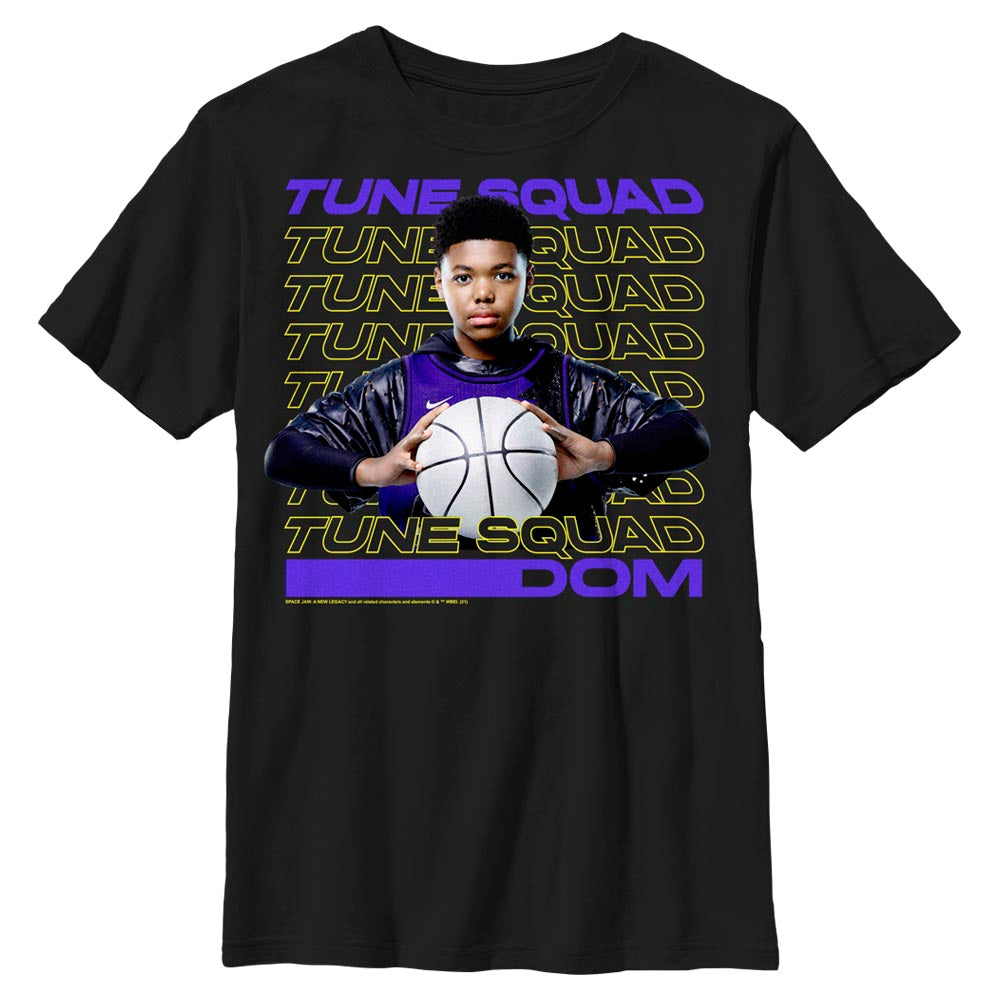 Black Dom Tune Squad Kids' T-Shirt from Space Jam: A New Legacy Image