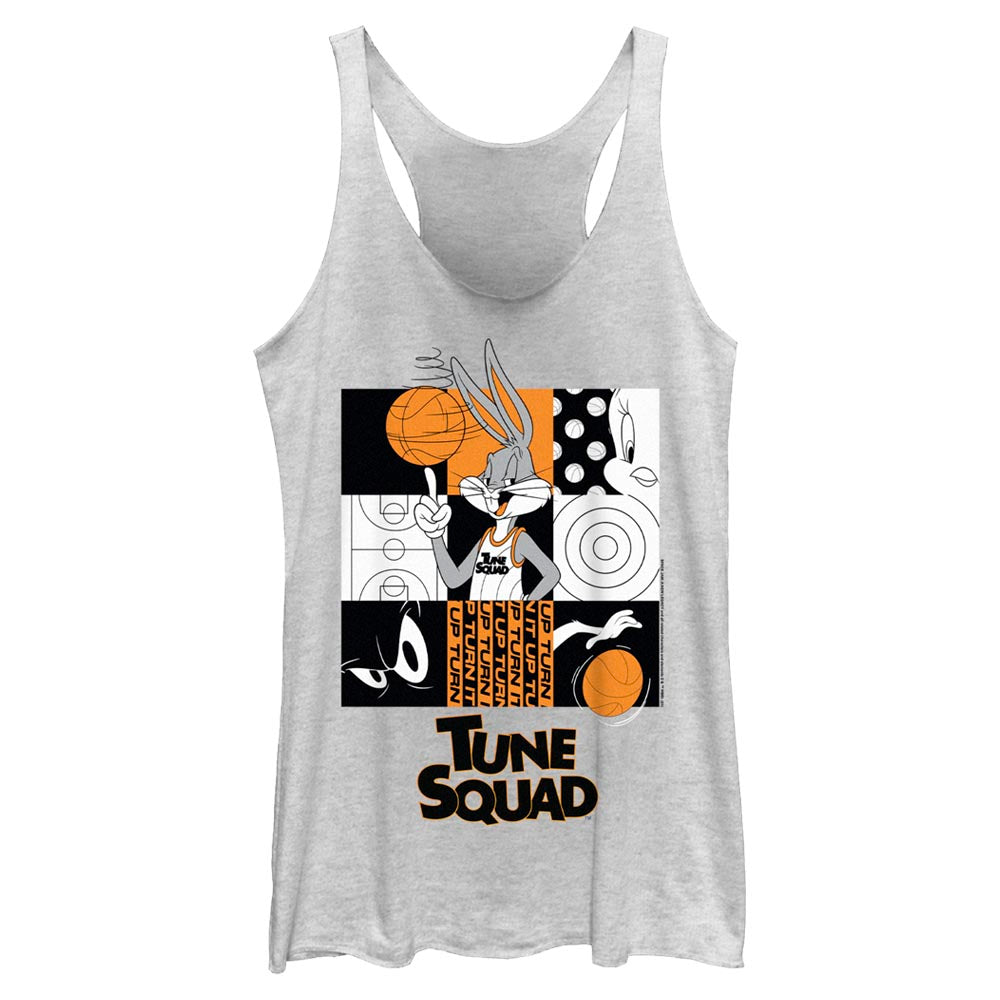 White Heather Bugs Bunny Tune Squad Women's Racerback Tank from Space Jam: A New Legacy Image