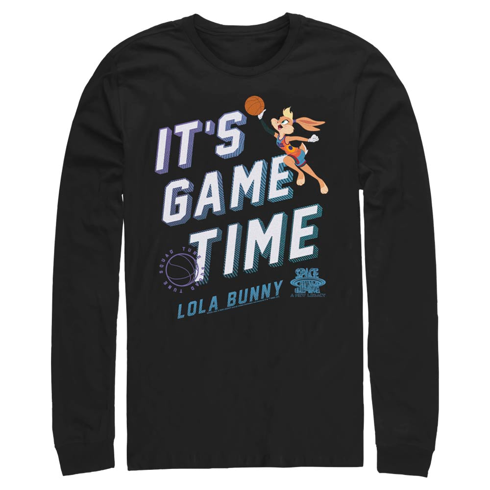 Black Lola Bunny It's Game Time Long Sleeve Tee from Space Jam: A New Legacy Image