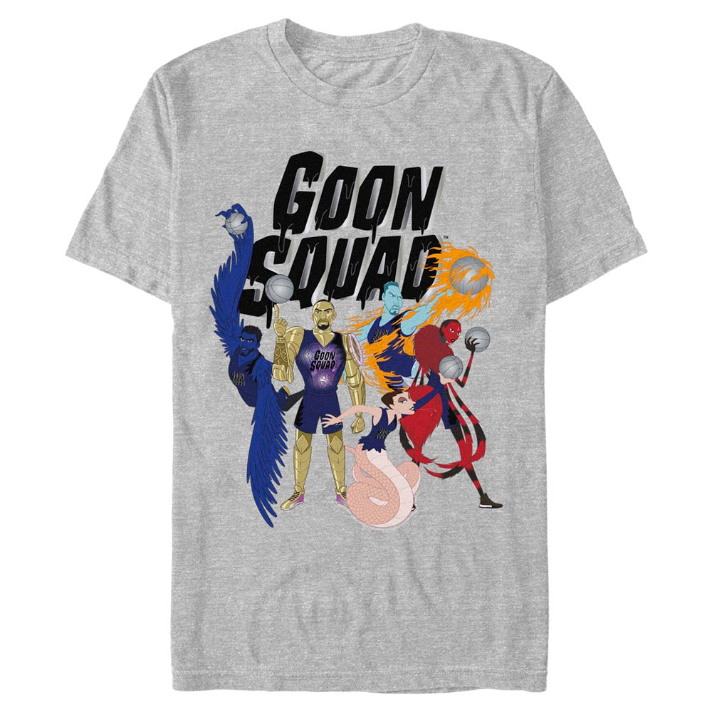 Grey Heather Goon Squad Animated T-Shirt from Space Jam: A New Legacy Image
