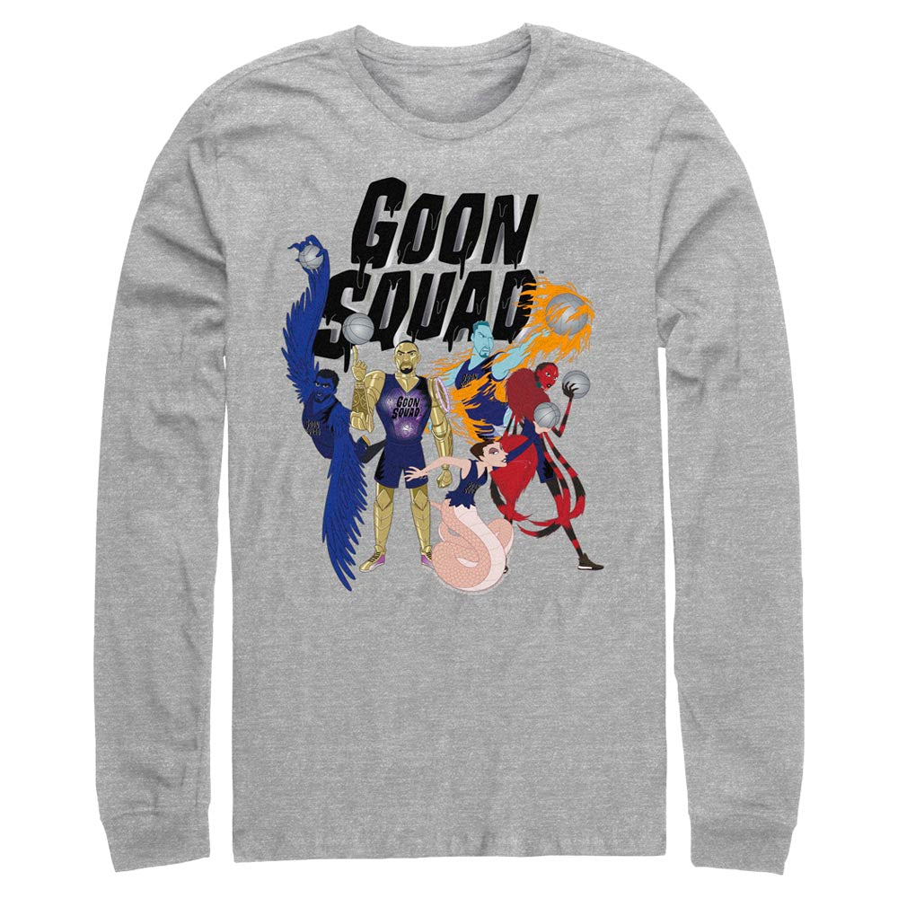 Grey Heather Goon Squad Animated Long Sleeve Tee from Space Jam: A New Legacy Image
