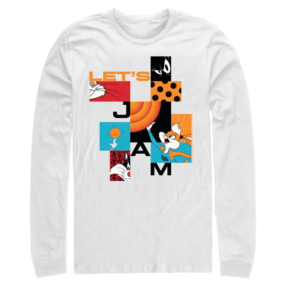 White Let's Jam Abstract Long Sleeve Tee from Space Jam: A New Legacy Image