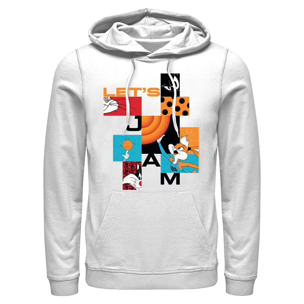 White Let's Jam Abstract Hoodie from Space Jam: A New Legacy Image