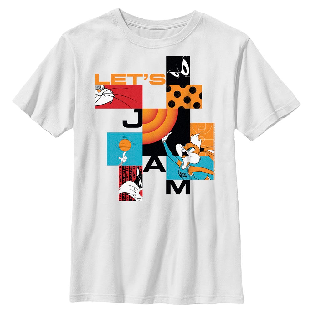 White Let's Jam Abstract Kids' T-Shirt from Space Jam: A New Legacy Image