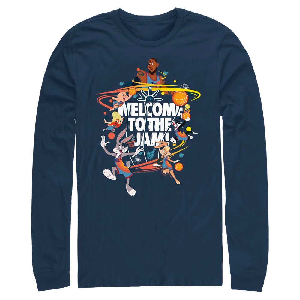 Navy Welcome to the Jam Team Tune Squad Long Sleeve Tee from Space Jam: A New Legacy Image