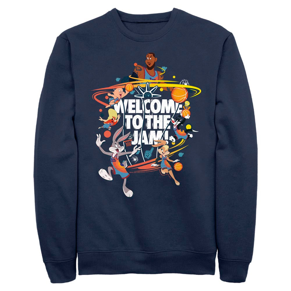 Welcome to the Jam Team Tune Squad Crew Sweatshirt from Space Jam: A New Legacy