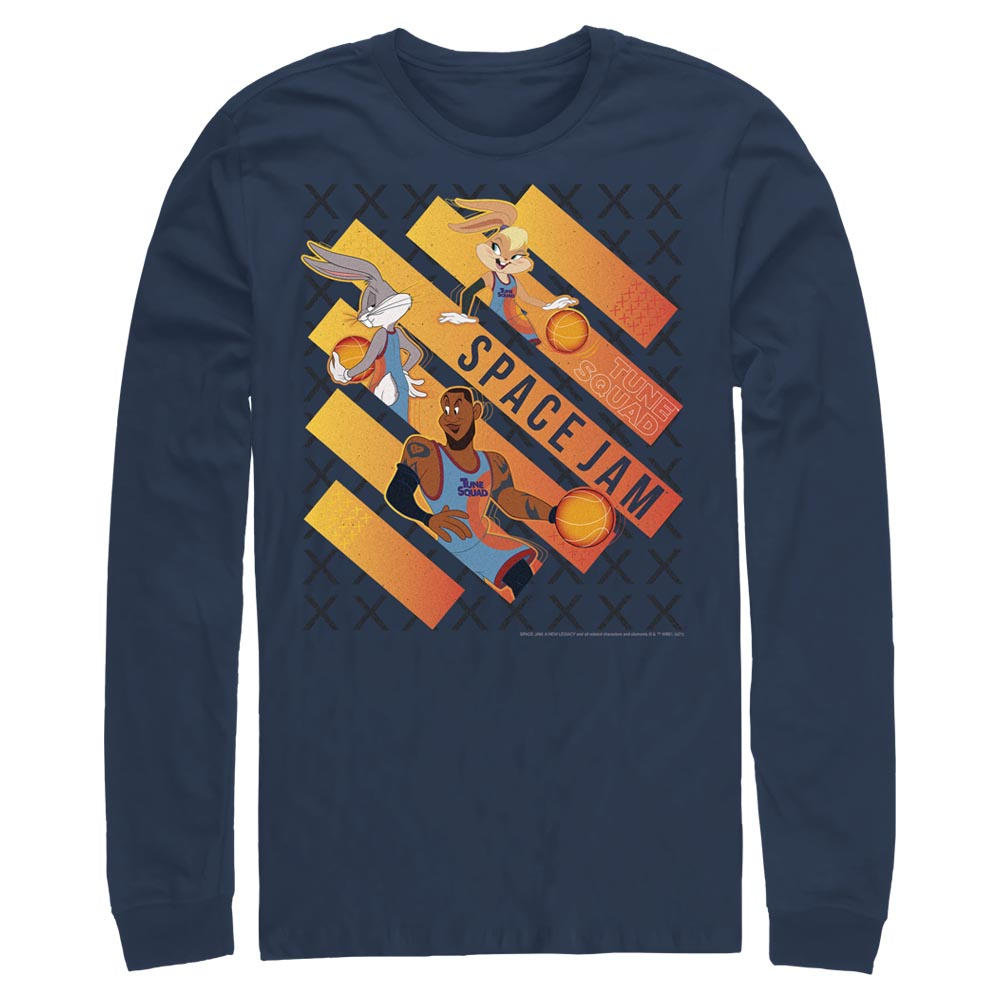 Navy Space Jam Game Time Long Sleeve Tee from Space Jam: A New Legacy Image